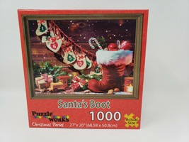Puzzle Works Christmas Series 1000 Pc Puzzle - Santa's Boot - New - $16.99
