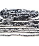Hematite Color Gunmetal Colored E 6/0 4mm Glass Seed Bead Lot Jewelry Su... - $7.00