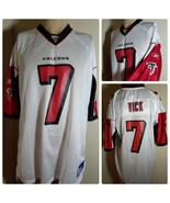Atlanta Falcons Michael Vick Jersey # 7 Reebok NFL Authentic Football Wh... - $391.06