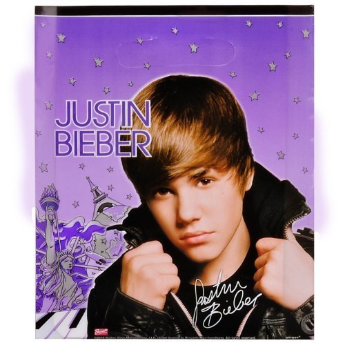 Justin Bieber Party Loot Bags (8-pack)