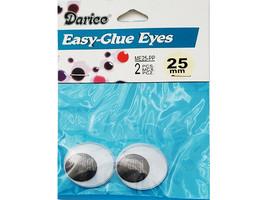 Darice Easy-Glue Eyes, Set of 2, 25mm
