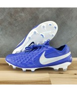Nike Tiempo Legend 8 Elite FG Soccer Cleats 'Blue/White' - Size 9 [AT529... - $99.00