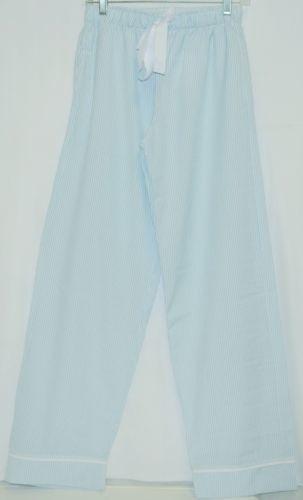 Ellie O Adult Seersucker Lounge Pants Size Small Color Blue