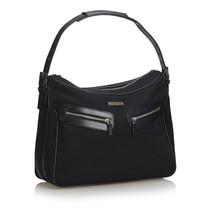 Pre-Loved Gucci Black Canvas Fabric Nylon Handbag Italy - $419.82