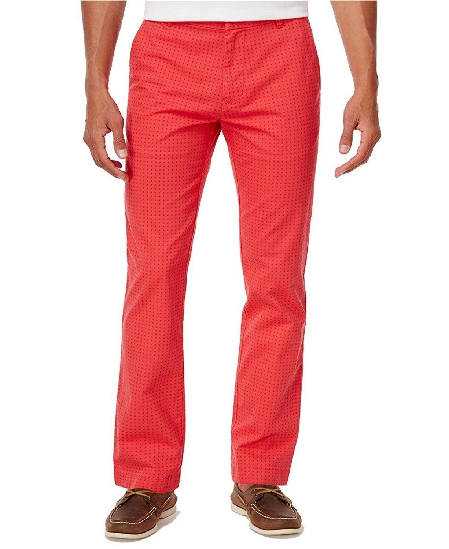 Tommy Hilfiger Men's Dot-Pattern Cotton Pants ,Size 34X30, MSRP $69 - $29.69