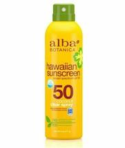 Alba Botanica Hawaiian Sunscreen SPF 50 Coconut Clear Spray 6 FL OZ - $9.95