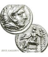 ALEXANDER the Great Rare Lifetime. AU Authentic Ancient Greek Coin Herak... - $674.10