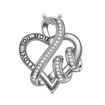New Avon Silver Heart Charm Pendant Necklace- NIB - $9.79