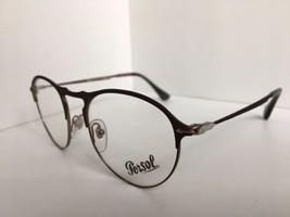 New Persol 7092-V 1072 50mm Rx Round Bronze Eyeglasses Frame Hand Made i... - $179.99