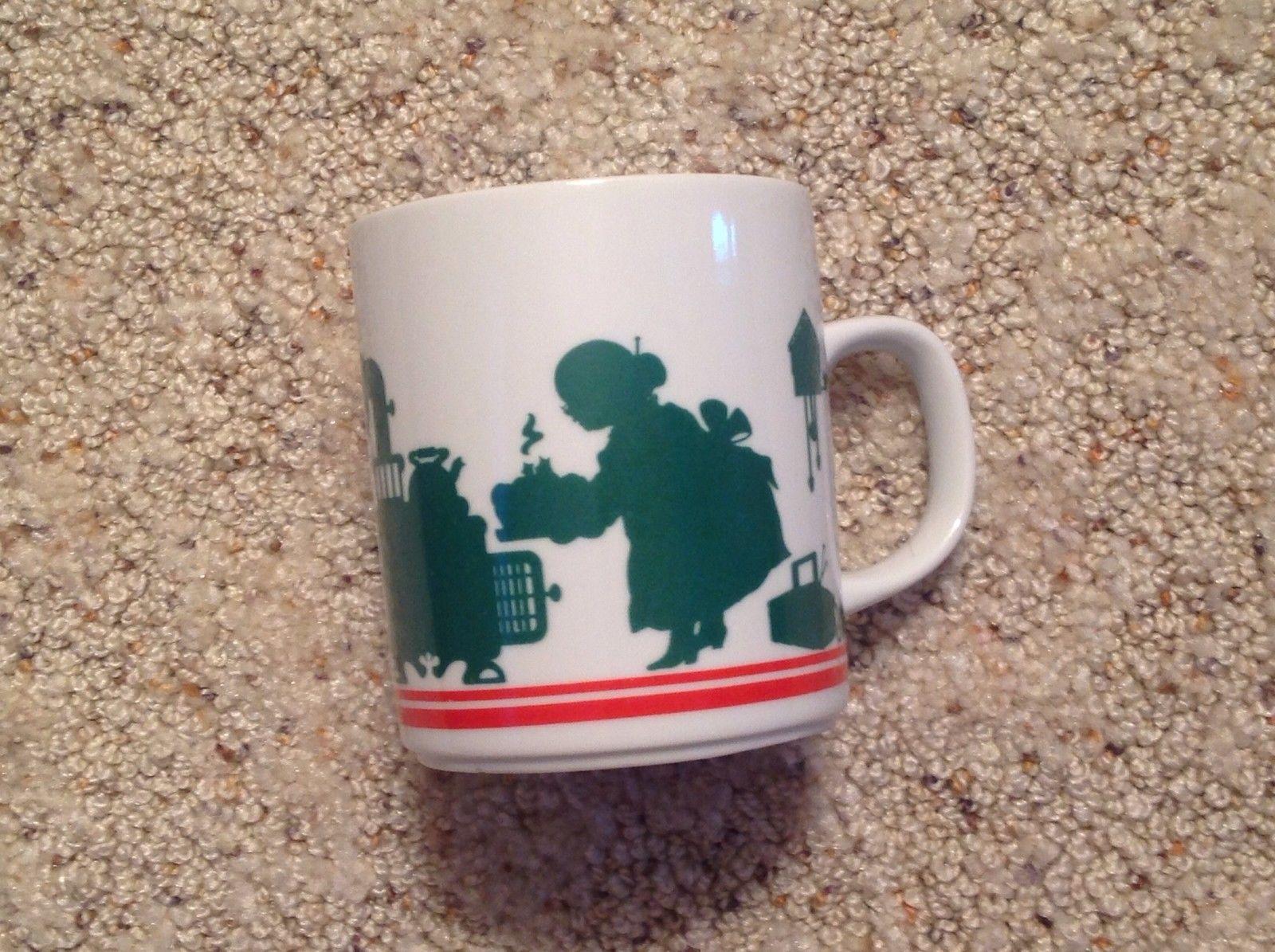 Coffee Mug Silhouette Mrs Claus Santa Elves 1984 Christmas