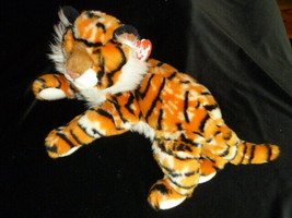 """Ty Classic 12"""" 16"""" Tiger """"Pinstripes"""" Plush Stuffed Animal  with Tag 2005 - $22.76"""