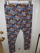LuLaRoe DISNEY Leggings Blue Cascading Minnie Mouse Faces Size TC Women's NWOT image 3