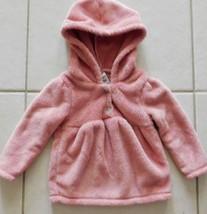 BABY Girls CARTERS MICROFLEECE JACKET/HOODIE Mauve/Pink 18M Preowned (R) - $10.99
