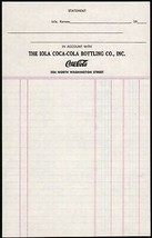 Vintage receipt IOLA COCA-COLA BOTTLING CO Kansas unused new old stock n... - $7.19