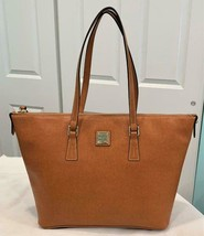 Dooney & Bourke SU518T Natural Large Zip Top Shopper Tote w/Dust Bag NWT... - $116.32