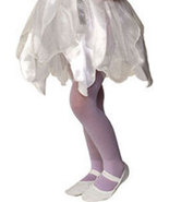 Girls Lavender Sparkle Tights Large 70-100 Pounds - $6.00