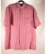 Jos A Bank Reserve Mens 100% Linen Button Down Shirt M Pink Purple NWT   - $44.55