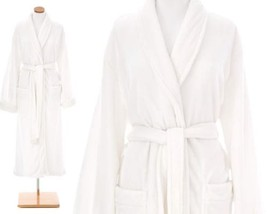 Pine Cone Hill White Sheepy Fleece Robe, One Size - $75.00