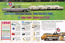 Vintage 1961 2-Page Magazine Ad Sunray DX Oil Grand Prize Win a New Cadillac - $5.93