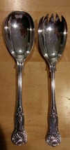 "Sheffield England Kings Serving Fork & Spoon -""EPNS A1 Made in England"" ... - $19.34"