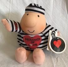 "American Greetings Ziggy Prisoner of Love Doll Plush 7"" Stuffed Stripes ... - $14.99"