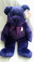Ty Beanie Buddies Princess Diana Bear With Rare Canadian Tags 2 Tush Tags - $45.00