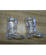 Jim Beam glass boots shooter shot glasses - $9.49