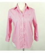 RALPH LAUREN Size S Pink Gingham Checked No-Iron Cotton Shirt Mint Cond - $18.99