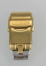 Citizen Acero Inoxidable Oro Hombres Doble Cierre Plegable - $14.96