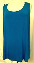 CALVIN KLEIN Blue Tank Top Stretch Scoop Neck Sleeveless Viscose Sz 3X P... - $19.59