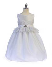 Elegant White Lace Waist Flower Girl, Communion,Party Dress, Crayon Kids... - $54.99