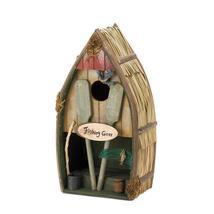 #10015671 *Fishing Gear Rowboat Bird House* - £15.45 GBP