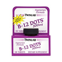 Twinlab, B-12 Dots, 500mcg, 100 Tablets - $12.42