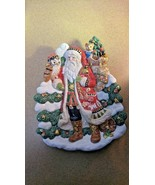 "Fitz and Floyd, Christmas Lodge Santa Canape Plate, 10 1/2"" - $32.24"