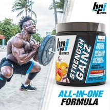 bpi Sports STRENGTH GAINZ  Tropical Punch 20 servings 11.03 oz. Exp. 02/... - $38.77