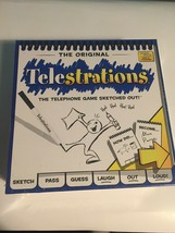 Telestrations Party Sketch Game 4-8 Players - Telephone Board Game - Kids - $15.47