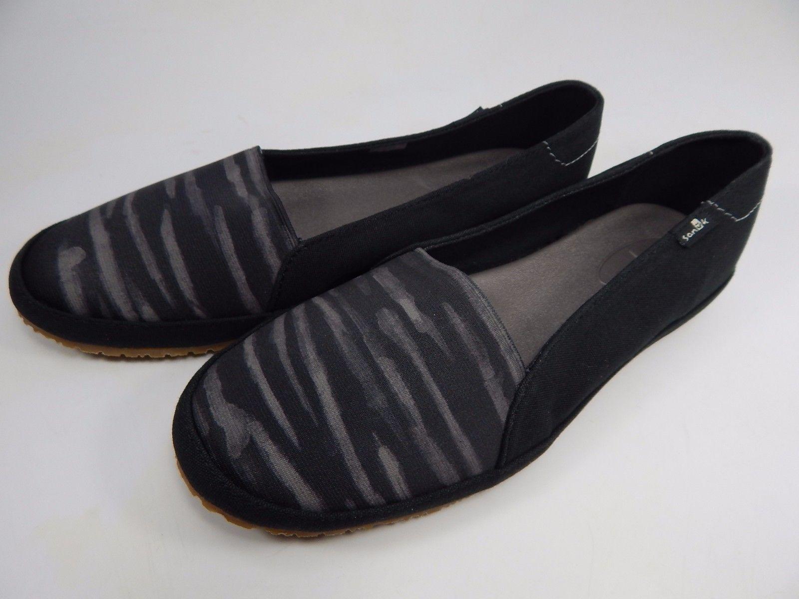 Sanuk Gore-Geous Black / Stripe Women's Casual Sandals Shoes Size US 7 M (B)