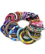 50 pcs Wholesale Nepal Bracelets Glass Seed Beads Roll on Bracelets Whol... - $110.75