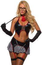 Sexy  Red Black Plaid Deluxe School Teacher Costume Set