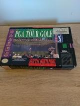 Super Nintendo SNES PGA Golf Tour ~ COMPLETE image 1