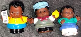 Little People Lot Of Black Hair Boys Train Conductor School Newpaper - $14.85