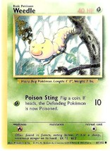 Weedle - Pokemon Collectible Card Game - 1999 - Wizards - Light Played C... - $0.98