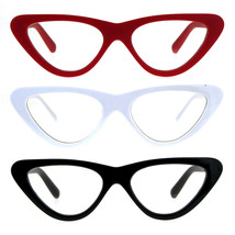 Womens Goth Retro Vintage Cat Eye Clear Lens Plastic Eyeglasses - $9.95