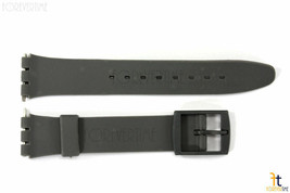 12mm Ladies Dark Gray Replacement Band Strap fits SWATCH watches w/2 Pins - $8.46