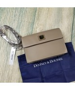 New DOONEY & BOURKE women's taupe east/west leather crossbody bag - $88.00