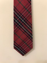 "Gap Men's 100% Cotton Tie Tartan Plaid 4""x 60"" Red Green Black - $9.89"