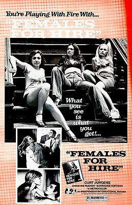 Primary image for Females For Hire - 1969 - Movie Poster