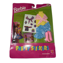 MATTEL BARBIE DOLL 1992 PRETTY STICKERS FASHION OUTFIT CLOTHES #4538 NIP - $9.80