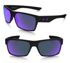 Neuf Oakley Deux Visage Mat Noir avec / Violet Iridium 9189-08 - $195.94