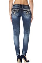 Rock Revival Womens Jeans Distressed Straight Leg Denim Samantha S3 image 2